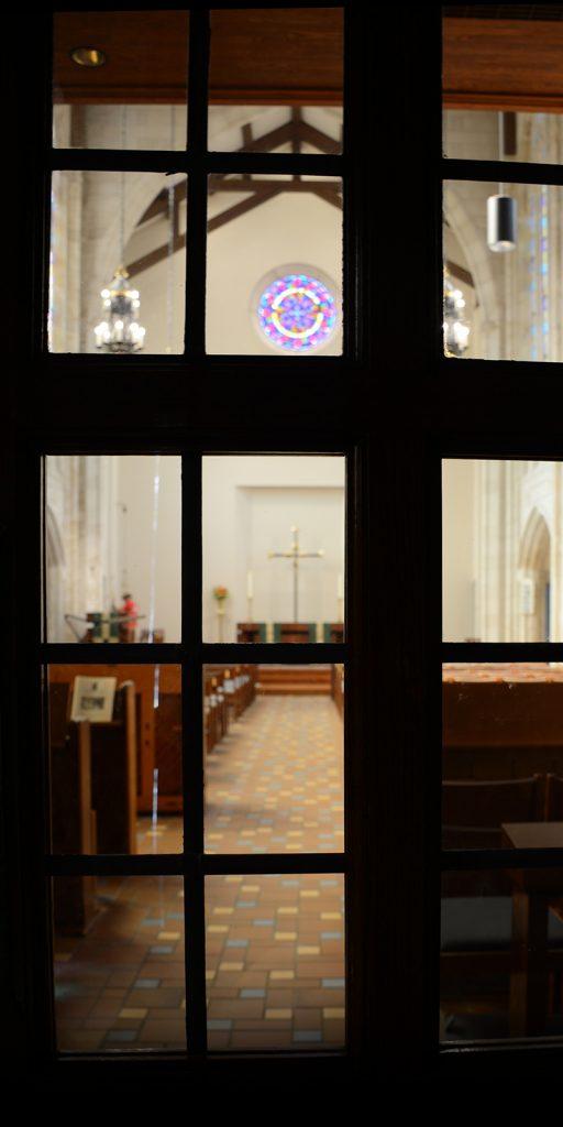 church through door
